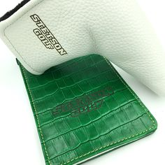 Genuine leather putter cover and golf scorecard holder