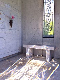 Take a peak inside The Armand Hammer Family Mausoleum with family member Casey Hammer, at the Westwood Village Memorial Park Cemetery Armand Hammer, Westwood Village, Memorial Park, Beauty And The Beast, Tile Floor, How To Memorize Things, Architecture, Marble, Bench