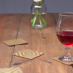 Stunning Stenciled Coasters. Don't buy new coasters. Bring life to your plain, old coasters with stencil design tips.