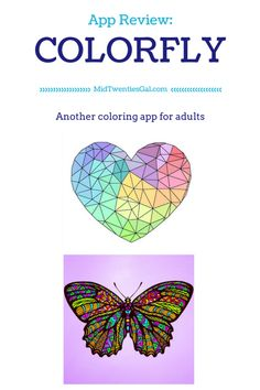 MidTwenties Gal's App Review on Colorfly! A coloring app for adults! #coloringbook #adultcoloringbook #app #appreview #art #DIY #artsandcrafts #drawing #painting