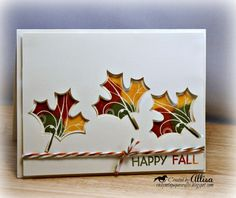 Rocky Mountain Paper Crafts: Puddle Pad Leaf Card