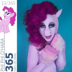 """""""[ 33/365 ] #365DaysOfDrag MY LITTLE PONY SERIES! Next up #PinkiePie! PS..... NO I am not a furry or a bronie, I just simply love creating art and bringing…"""""""