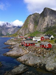 Sakrisøy village in Lofoten Islands, Norway