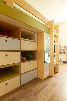 Dětská patrová postel © Katka Horáková, www.DesignVille.cz