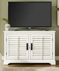 Another great find on #zulily! White Sawgrass TV Stand #zulilyfinds