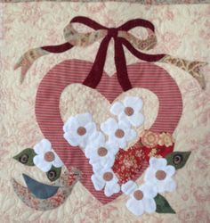 Appliqué by Janet Beyea from the Vintage Valentine pattern.