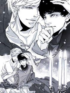 Merlin and Arthur by onlyfuge.deviantart.com on @deviantART