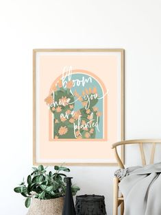 Bloom Where You Are Planted, Boho Art Prints, Life Quote, Boho Decor, Boho Living Room Decor, Mid Century Bedroom Decor Every room deserves to be special. These supreme quality print posters in various sizes serve as statement pieces, creating a personalized environment. .: 264 gsm fine art paper Burnt Orange Decor, Burnt Orange Living Room, Boho Chic Bedroom, Boho Chic Living Room, Living Room Nook, Living Room Decor, Poster Prints, Posters, Art Prints