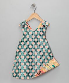 Take a look at this Pink & Blue Reversible Cross-Back Dress - Infant, Toddler & Girls by Right Bank Babies on #zulily today!