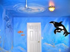 Langston's Nursery - under the sea - fish- beach © Murals and more by Patrice