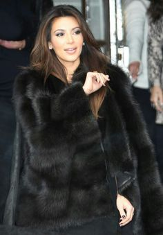fur fashion directory is a online fur fashion magazine with links and resources related to furs and fashion. furfashionguide is the largest fur fashion directory online, with links to fur fashion shop stores, fur coat market and fur jacket sale. Looks Kim Kardashian, Estilo Kardashian, Kardashian Style, Sable Fur Coat, Black Fur Coat, Fox Fur Coat, Fur Coats, Fur Fashion, Look Fashion