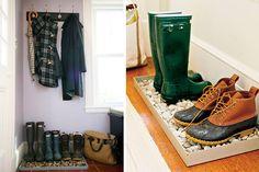 Ideas para decorar entradas con ropero