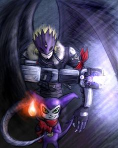 Impmon and Beelzebumon