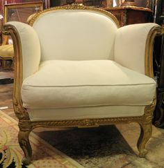 French Armchair #french #antiques