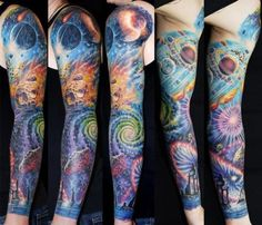 Cant wait to upgrade my back tattoo.  This galaxy tat is amazing! Love the colors.!!
