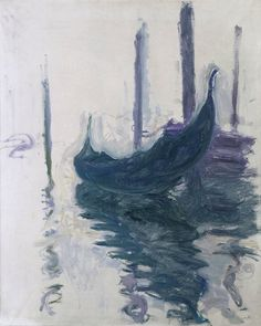 Claude Monet Gondola in Venice Year 1908