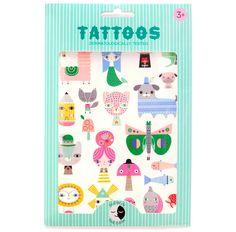 Zwei Bögen mit Tattoos vom Label Petit Monkey. Leuchten im Dunkeln, EUR 6,95