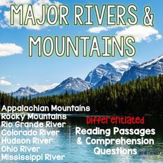 Major Rivers And Mountains Of The United States Differentiated Passages Excellent For Geography Unit
