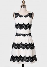 Velvet Muse Lace Detail Dress