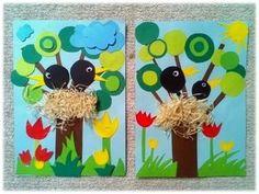 Radana Polášková's media content and analytics Frog Crafts, Bird Crafts, Cute Crafts, Preschool Crafts, Diy And Crafts, Name Art Projects, School Art Projects, Projects For Kids, Easter Crafts For Kids