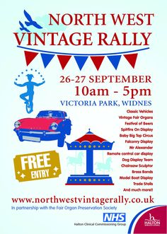 North West Vintage Rally - 10am-5pm 26-27th September @ Victoria Park, Widnes.