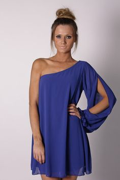 Bright navy is one of the correct blues for a warm spring to wear such as this dress!  Look for it!