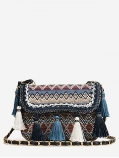 Product Patchwork Color Block Tassels Tribal Crossbody Bag available for Zaful WW, get it now ! Canvas Crossbody Bag, Cheap Crossbody Bags, Chain Crossbody Bag, Leather Crossbody Bag, Unique Handbags, Cheap Handbags, Vintage Handbags, Purses And Handbags, Cheap Purses