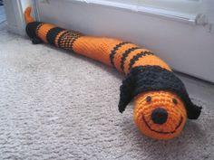 crochet doggie door draft stopper