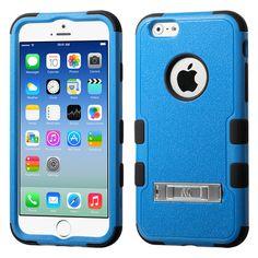 MYBAT TUFF Hybrid M-Stand iPhone 6/6S Case - Natural Blue/Black