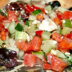 Greek Diced Vegetable Salad Recipe
