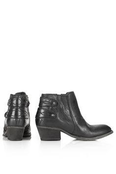 HUDSON Rosse Black Boots - Boots - Shoes - Topshop