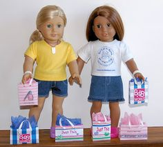 Sewing for American Girl Dolls: Computer Crafts (for dolls)  Shopping bags to print