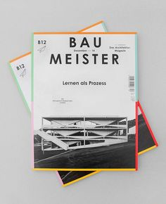 Herburg Weiland, Baumeister Magazine Cover Design Layout / Love the different colors bordering the entire cover