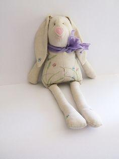 Soft Bunny. Easter bunny-rabbit. Stuffed bunny. Kids stuffed rag bunny. Stuffed cloth  bunny. Handmade.  Nursery Decor. Baby Shower