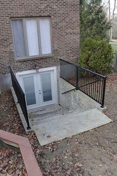 Basement Entrance | Outside Basement Entry Traditional Entry