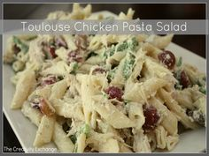 The Most Delicious Chicken Pasta Salad… {Toulouse Chicken Pasta Salad}