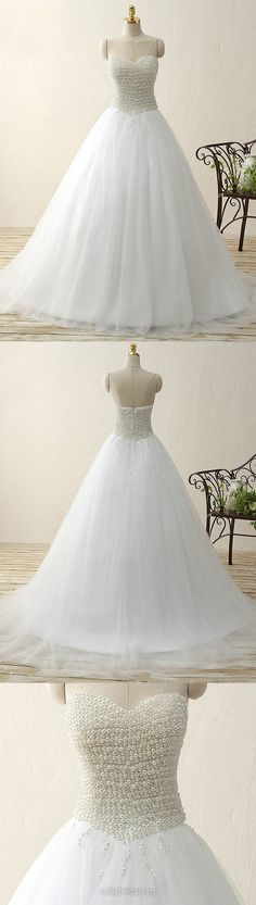 White Prom Dresses Princess, Ball Gown Party Dresses Sweetheart, Long Formal Evening Dresses Tulle Modest