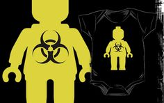 """Minifig with Radioactive Symbol by Customize My Minifig"" Kids Clothes by ChilleeW 