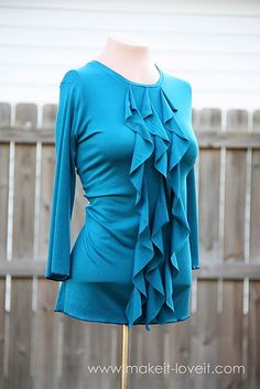 Don't know that I'd want to make a shirt like this from scratch, but good to know how to do the cascading ruffles.
