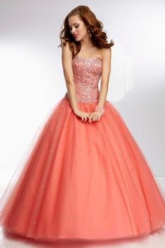 2014 Terrific A Line Strapless Dresses Beaded Bodice Floor Length With Long Tulle Skirt