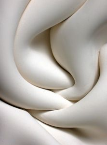 MATIÈRE / Jeannine Marchand - Folded Clay white white white , blanco, weiss, hvit, (k Colani, White Texture, Shades Of White, Pure White, White White, Textures Patterns, Ceramic Art, Sculpting, At Least