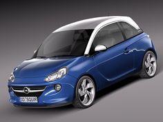 3D Model Opel Adam City Car - 3D Model