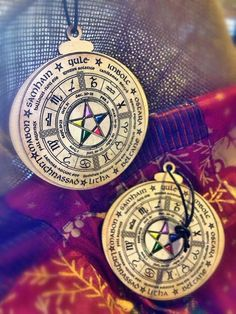 Yule ornaments, wheel of the year.