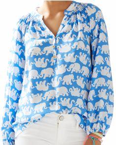Darling elephant print top