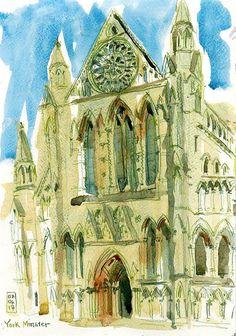 York Minster - Sunny SketchCrawl