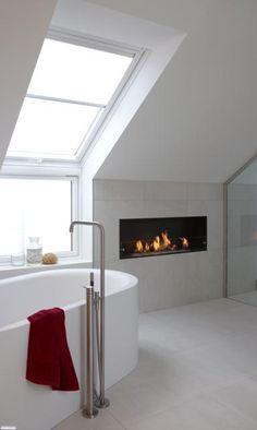 Bio fireplace 242 Bio fireplace romantic atmosphere in the bathroom
