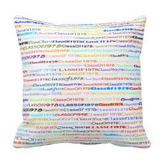 Class Of 1978 Text Design II Throw Pillow