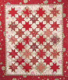 Sawtooth Stars pattern by Stitchin Post, Sisters, Oregon.  Simple sawtooth pattern.
