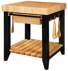 Powell Color Story Black Butcher Block Kitchen Island A square kitchen island that is your kitchen storage and food preparation center essential for gourmet Powell Furniture, Kitchen Furniture, Kitchen Decor, Kitchen Ideas, Kitchen Trends, Furniture Stores, Kitchen Inspiration, Office Furniture, Furniture Cleaning