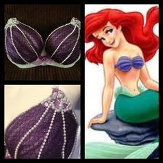 a3c47bfd57ed6 Mermaid (Little Mermaid) Bra Top via Etsy Ariel Costumes